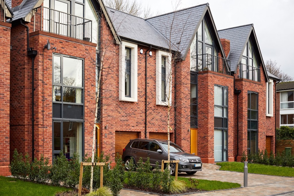 an image if townhouses in Chorlton