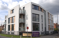 an image of the Avenir apartment building on school lane in didsbury